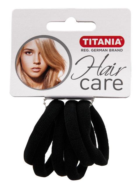 Резинки для волос, черные 4 см 6 шт/уп 7868