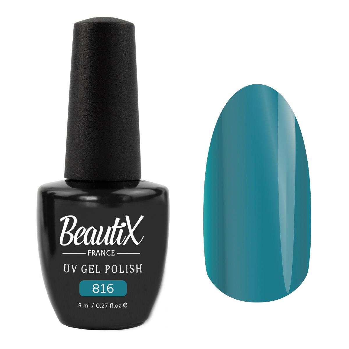 Купить BEAUTIX 816 гель-лак для ногтей 8 мл, Синие