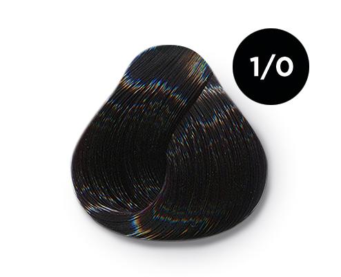 OLLIN PROFESSIONAL 1/0 краска для волос, иссиня-черный / OLLIN COLOR 60 мл