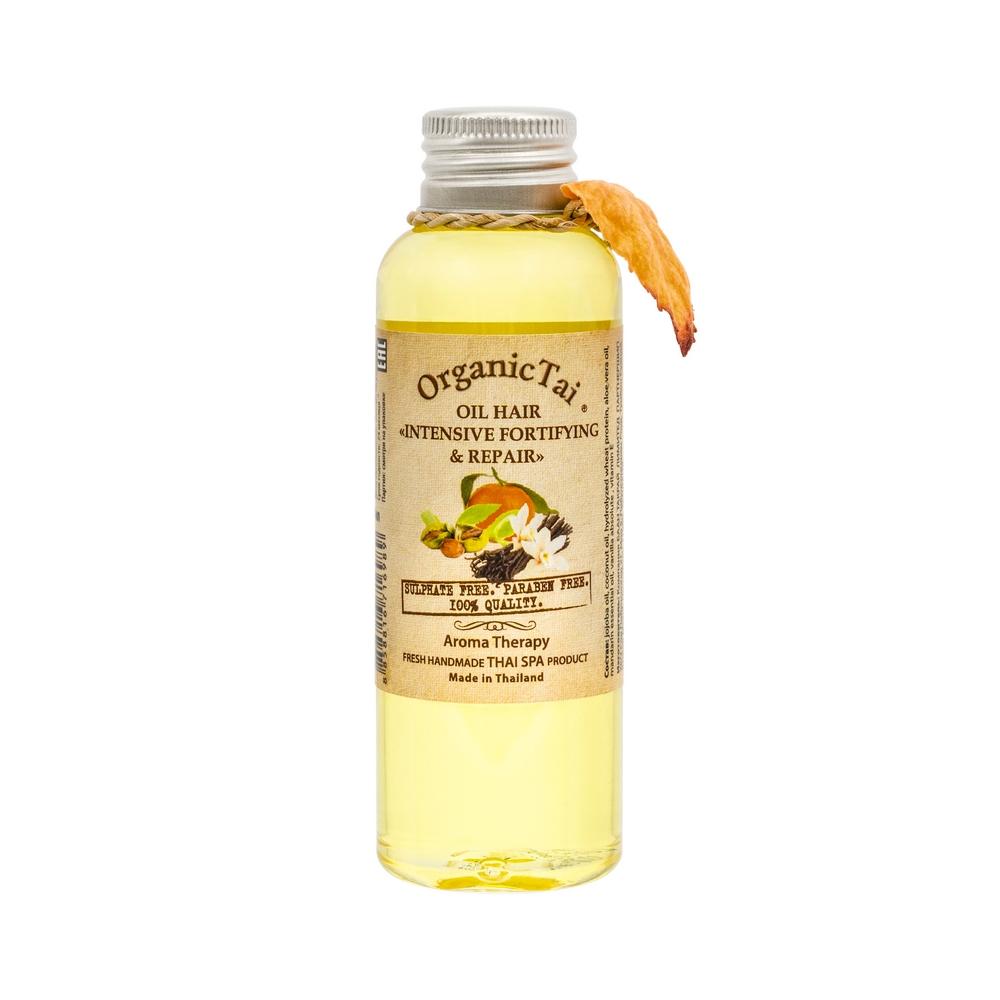 ORGANIC TAI Масло для волос Интенсивное укрепление и восстановление / Натуральная косметика СПА, 120 мл
