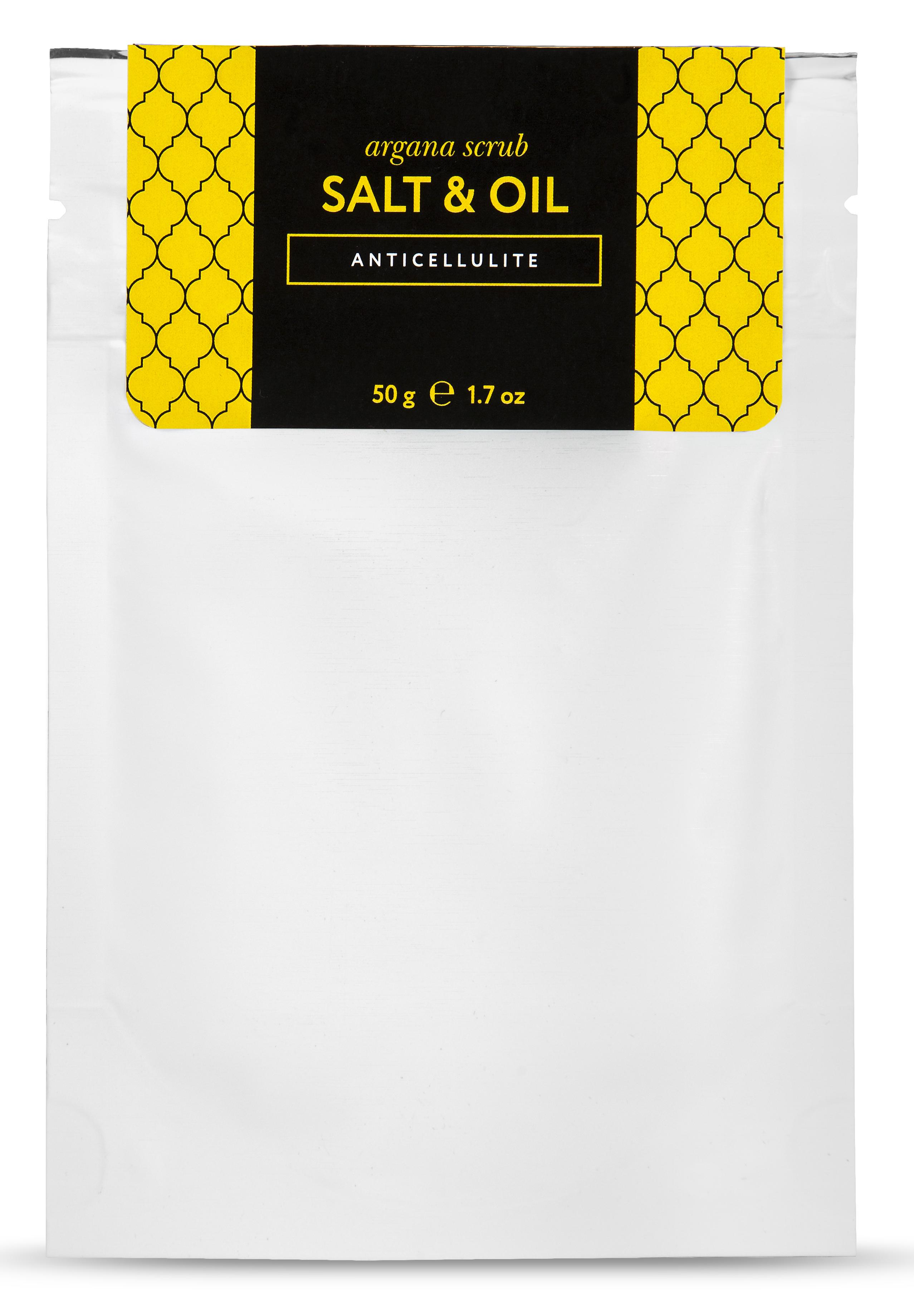 HUILARGAN Скраб аргановый солевой для тела, антицеллюлит 50 г