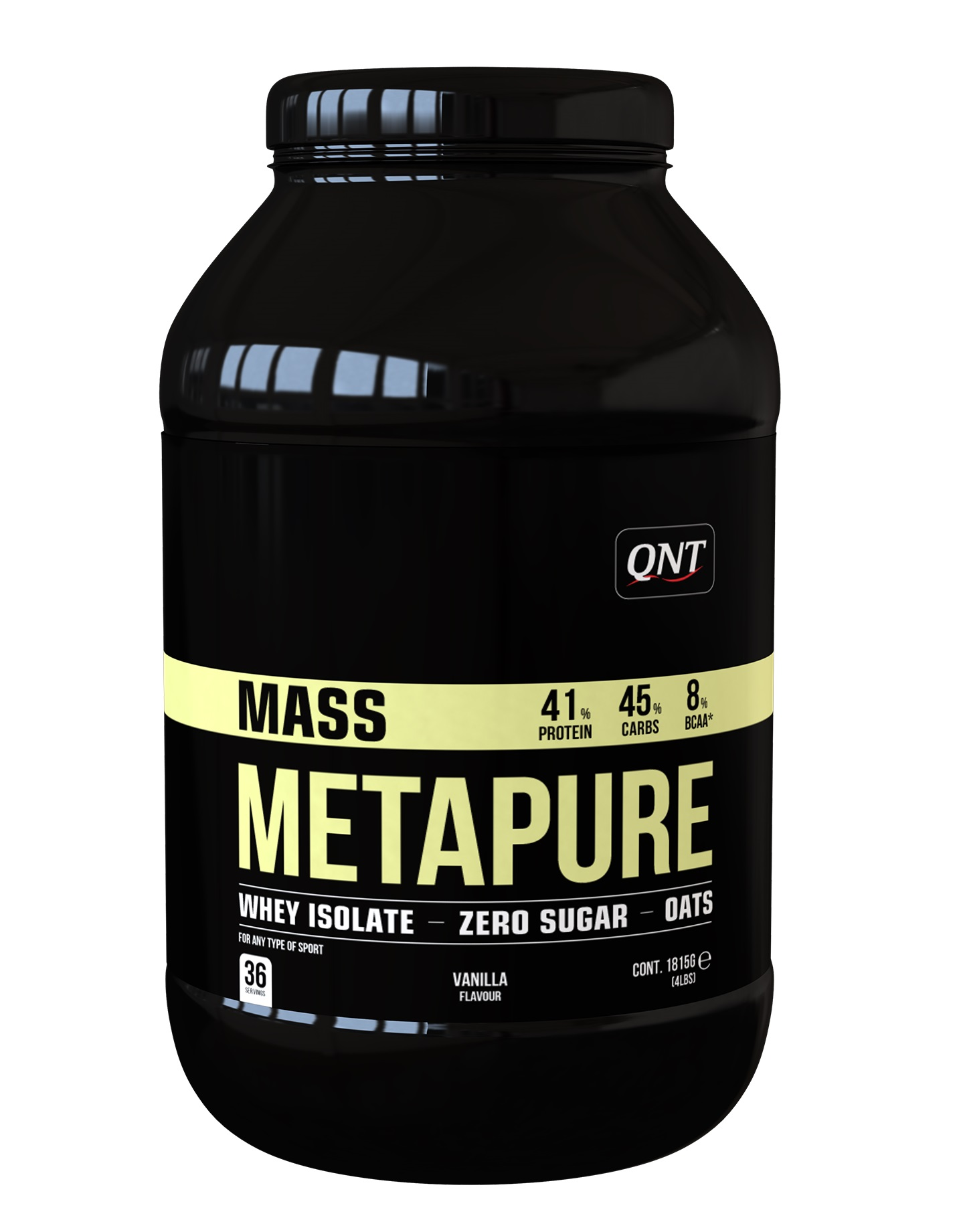 Купить QNT Добавка биологически активная к пище Масс метапьюр, Ваниль / METAPURE MASS Vanilla 1815 г