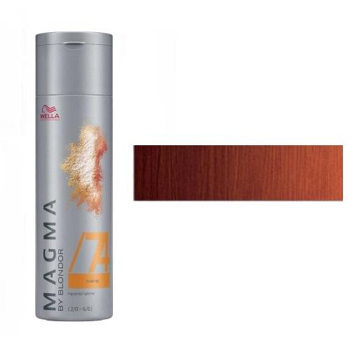 WELLA /74 краска для цветного мелирования, коричнево-махагоновый / Magma by Blondor 120 мл