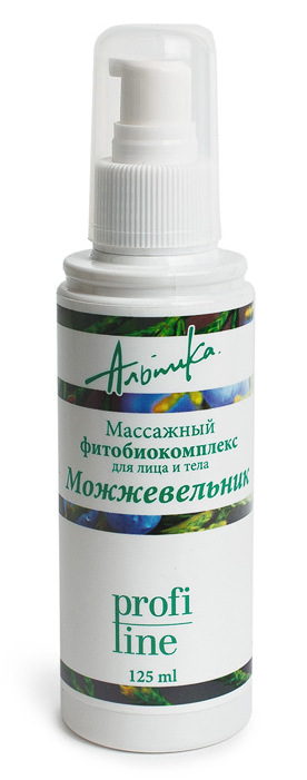 АЛЬПИКА Масло массажное для лица и тела Фитобиокомплекс, можжевельник 125 мл -  Масла