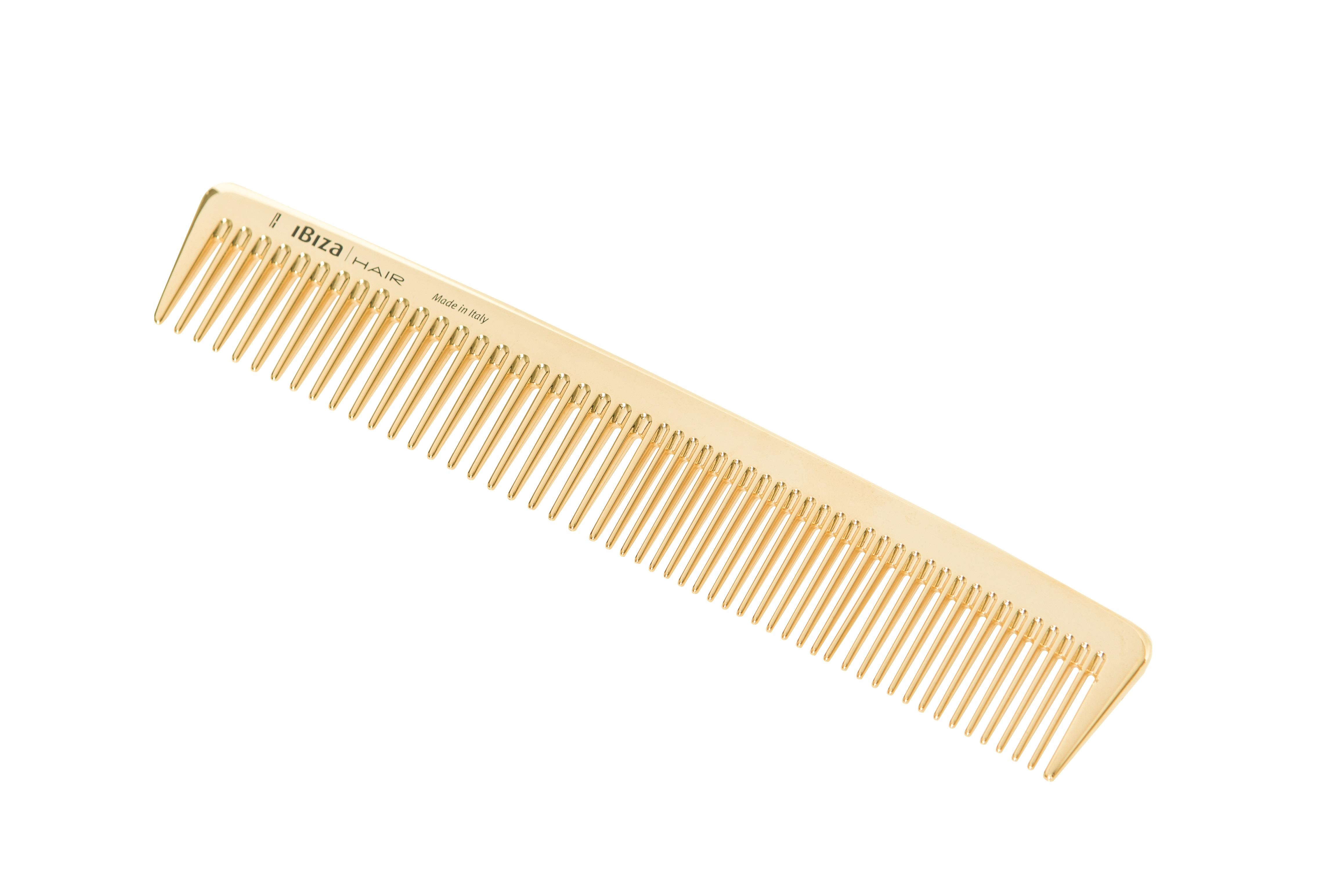 IBIZA HAIR Расческа карбоновая, золотистая для стайлинга / Gold Comb Styling