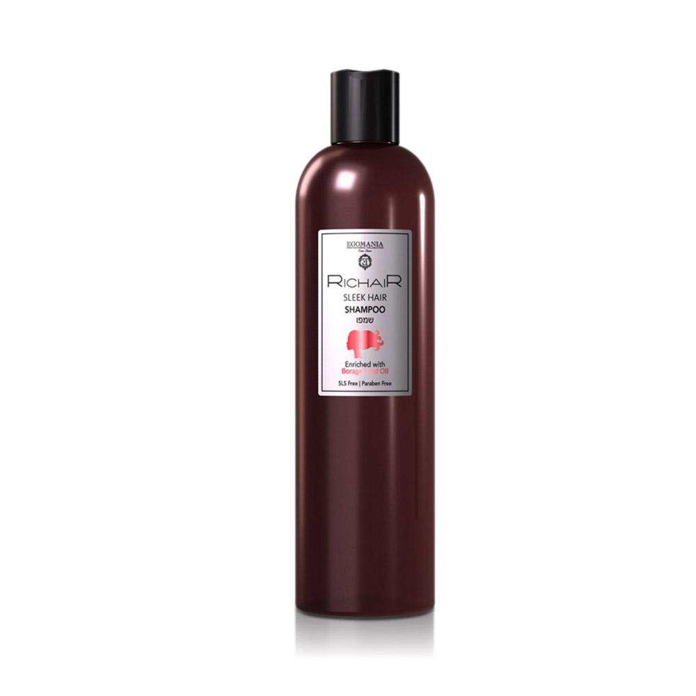 EGOMANIA Шампунь для гладкости и блеска волос 400мл