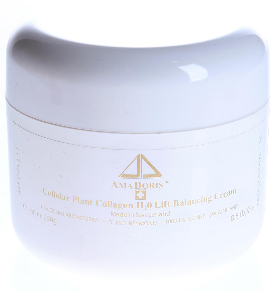 AMADORIS Крем H2O на клеточном уровне с коллагеном для смешанной и жирной кожи 250млКремы<br>Крем рекомендуется для комбинированной и жирной кожи. Его основное назначение - поддержание оптимального уровня увлажненности и защита кожи. Гликопротеины пшеницы, водорослей и дрожжей активизируя синтез собственного коллагена способствуя повышению тургора кожи. Витамины А и Е обеспечивают регенерирующие и антиоксидантные свойства крема. Экстракты мальвы и эдельвейса оказывают тонизирующее действие. После применения препарата улучшается цвет кожи, разглаживаются мелкие морщинки. Используется для ухода за кожей женщин и мужчин старше 30 лет. Способ применения: Небольшое количество крема (1-1,5 мл) равномерно распределите на лице до полного впитывания.<br><br>Объем: 250<br>Вид средства для лица: Тонизирующий