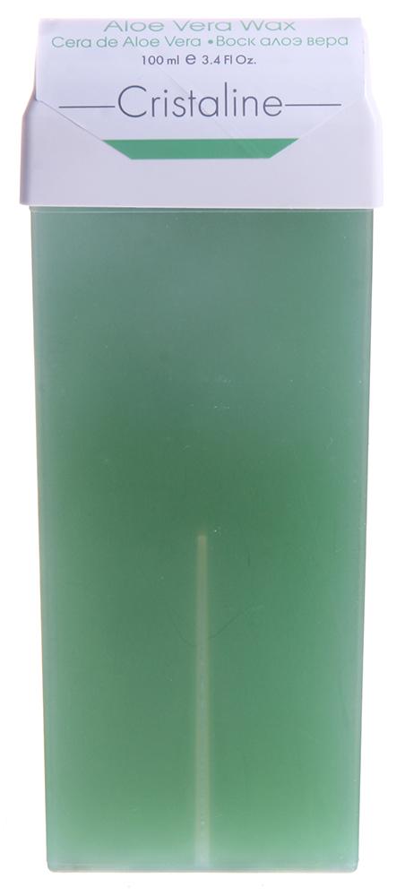 CRISTALINE Воск в катридже, алоэ вера 100 мл воск для эпиляции cristaline натуральный