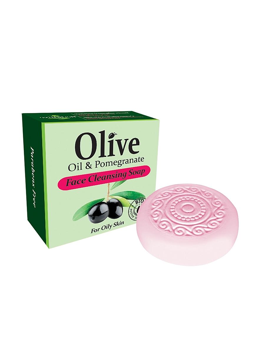 MADIS Мыло для умывания с с экстрактом граната для жирной кожи / HerbOlive, 100 гр