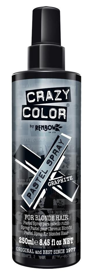 CRAZY COLOR Спрей цветной, графит / Pastel Spray Grafit 250 мл