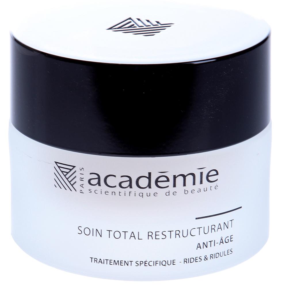 ACADEMIE Уход абсолютный восстанавливающий / VISAGE 50млКремы<br>Омолаживающий уход для кожи с признаками старения. Действует по нескольким направлениям: препятствует основным факторам старения, обеспечивает глубокое увлажнение, активизирует обновление кожи и выработку коллагена и эластина, укрепляет овал лица и выравнивает структуру и оттенок кожи. Крем усиливает сопротивление кожи негативным воздействиям. Результат: Причины увядания кожи полностью нейтрализованы, кожа выглядит молодой и невероятно красивой. Активные ингредиенты: неомыляющаяся часть масла авокадо 9%, концентрат натурального витамина А&amp;nbsp;5%, активный подтягивающий ингредиент 5%, экстракт белой ивы 5%, экстракт семечек подсолнечника 5%, экстракт сои 1%, экстракт дикого ямса 0.6%,&amp;nbsp;активные ингредиенты 30.6%. Способ применения:&amp;nbsp;использовать 1-2 раза в день. Нанести крем на очищенную кожу и мягко впитать.<br><br>Объем: 50 мл