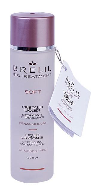 Купить BRELIL PROFESSIONAL Кристаллы жидкие распутывающего и смягчающего действия, без силикона / BIOTREATMENT Soft 50 мл