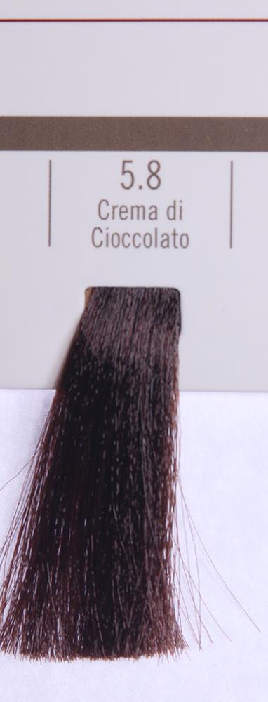BAREX 5.8 краска для волос / PERMESSE 100млКраски<br>Оттенок: Крем и шоколад. Профессиональная крем-краска Permesse отличается низким содержанием аммиака - от 1 до 1,5%. Обеспечивает блестящий и натуральный косметический цвет, 100% покрытие седых волос, идеальное осветление, стойкость и насыщенность цвета до следующего окрашивания. Комплекс сертифицированных органических пептидов M4, входящих в состав, действует с момента нанесения, увлажняя волосы, придавая им прочность и защиту. Пептиды избирательно оседают в самых поврежденных участках волоса, восстанавливая и защищая их. Масло карите оказывает смягчающее и успокаивающее действие. Комплекс пептидов и масло карите стимулируют проникновение пигментов вглубь структуры волоса, придавая им здоровый вид, блеск и долговечность косметическому цвету. Активные ингредиенты:&amp;nbsp;Сертифицированные органические пептиды М4 - пептиды овса, бразильского ореха, сои и пшеницы, объединенные в полифункциональный комплекс, придающий прочность окрашенным волосам, увлажняющий и защищающий их. Сертифицированное органическое масло карите (масло ши) - богато жирными кислотами, экстрагируется из ореха африканского дерева карите. Оказывает смягчающий и целебный эффект на кожу и волосы, широко применяется в косметической индустрии. Масло карите защищает волосы от неблагоприятного воздействия внешней среды, интенсивно увлажняет кожу и волосы, т.к. обладает высокой степенью абсорбции, не забивает поры. Способ применения:&amp;nbsp;Крем-краска готовится в смеси с Молочком-оксигентом Permesse 10/20/30/40 объемов в соотношении 1:1 (например, 50 мл крем-краски + 50 мл молочка-оксигента). Молочко-оксигент работает в сочетании с крем-краской и гарантирует идеальное проявление краски. Тюбик крем-краски Permesse содержит 100 мл продукта, количество, достаточное для 2 полных нанесений. Всегда надевайте подходящие специальные перчатки перед подготовкой и нанесением краски. Подготавливайте смесь крем-краски и молочка-оксигента Permesse в неметаллическ