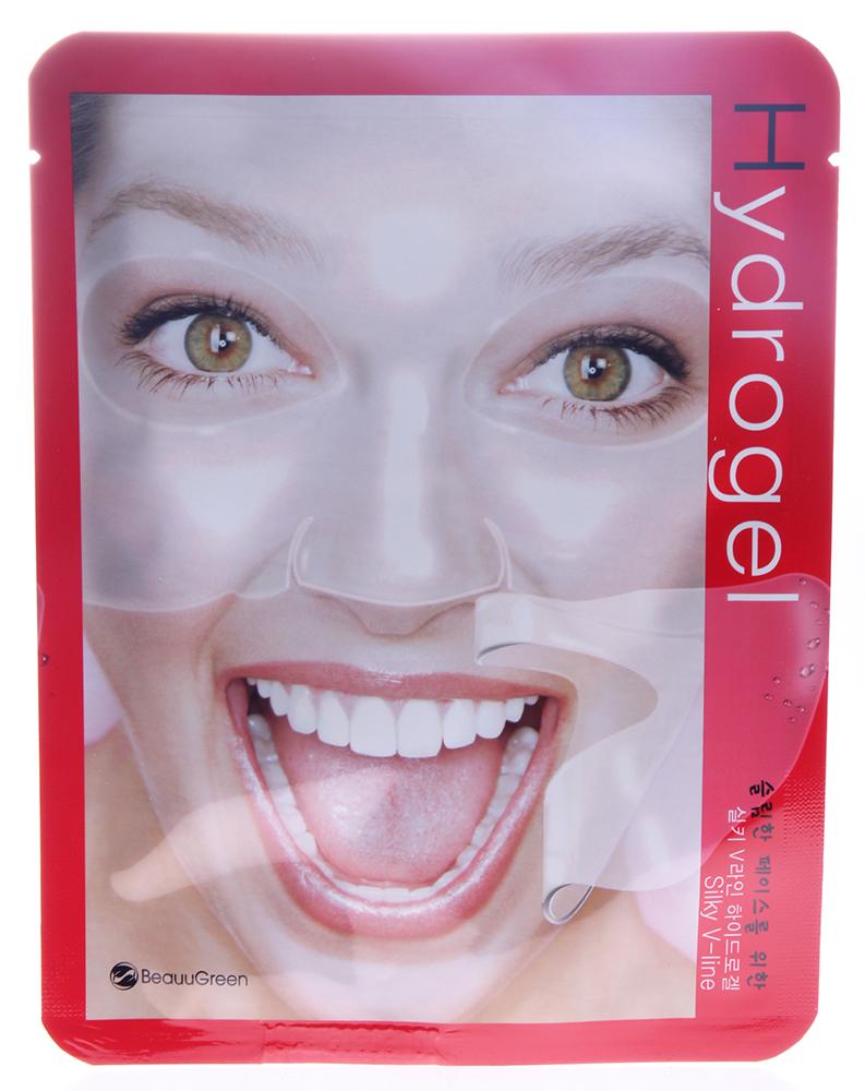 BEAUUGREEN Маска гидрогель Шелк 28гр~Маски<br>Маска для лица на основе гидрогеля с протеинами шелка. Прекрасно омолаживает, эффективно борется с морщинами, а так же хорошо восстанавливает клеточный гомеостаз кожи. Подходит для увядающей, уставшей кожи. Активные ингредиенты: протеины шелка, EGF, аденозин, сахаромицеты ферментов. Способ применения: извлечь маску из саше, равномерно распределить гидрогелевую основу на лице, выдержать экспозицию 20минут. Основу маски снять, остаткам концентрата дать впитаться, при необходимости нанести крем.<br><br>Назначение: Морщины