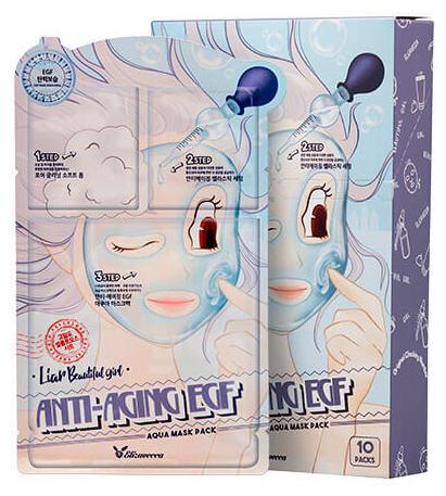 ELIZAVECCA Маска трехступенчатая омолаживающая для лица / Anti-Aging EGF Aqua Mask Pack 10 шт
