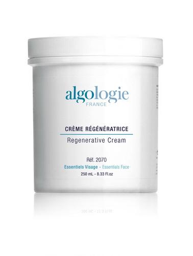ALGOLOGIE Крем восстанавливающий регенерирующий 200млКремы<br>Плотный крем белого цвета, тающий при соприкосновении с кожей для чувствительной и сухой поврежденной кожи. Действие: обеспечивает интенсивное увлажнение кожи, стимулирует клеточный метаболизм и регенерацию клеток благодаря присутствию витамина А, быстро снимает воспалительную реакцию, успокаивает кожу, оказывает антиоксидантное действие. Активные ингредиенты: ретинил пальмитат, эфирное масло иланг-иланг. Профессиональное применение: используется для массажа лица согласно методикам проведения профессиональных процедур Algologie. Для усиления скользящей способности можно добавить в него Лосьон &amp;ndash; мацерацию для лица и тела, применяется также в качестве базисного крема для эфирных масел.<br><br>Объем: 250<br>Вид средства для лица: Восстанавливающий