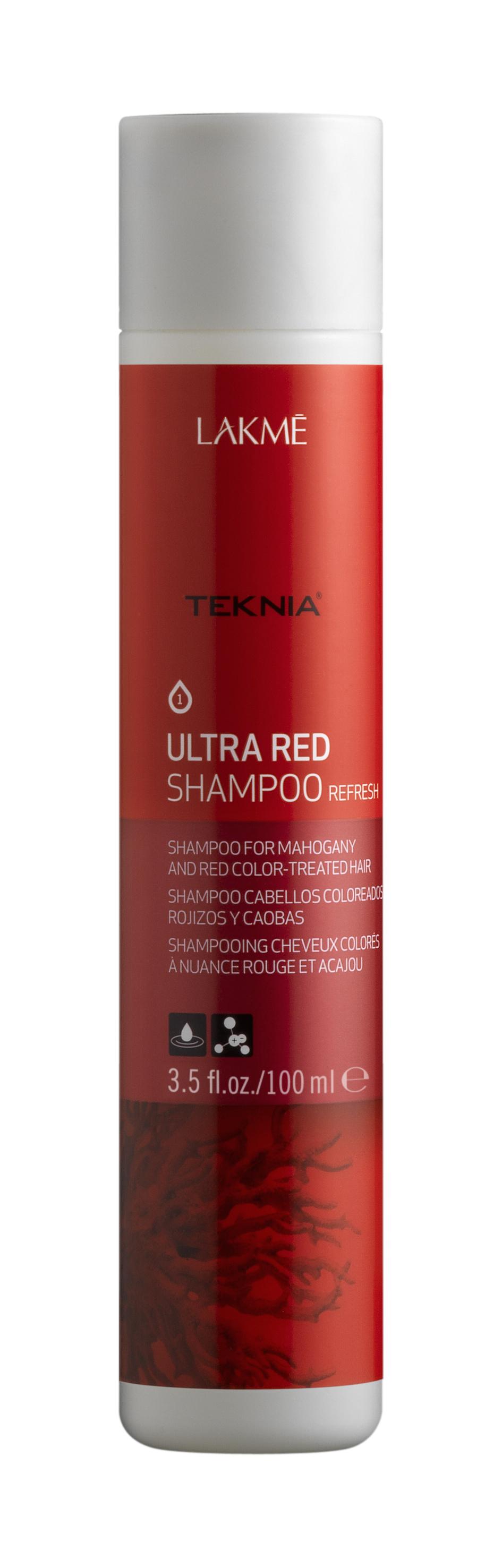 Купить LAKME Шампунь для поддержания оттенка окрашенных волос, красный / ULTRA RED SHAMPOO 100 мл