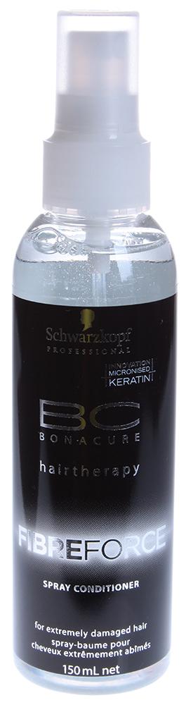 SCHWARZKOPF PROFESSIONAL Спрей-кондиционер уплотняющий / BC FIBRE FORCE 150млКондиционеры<br>Распутывает экстремально поврежденные волосы. Формула глубоко проникает в фиброзную структуру волос и укрепляет ее, возрождая плотность и прочность волос. Несмываемый. Благодаря легкой, не перегружающей формуле (без силиконов), может использоваться как смываемый продукт на тонких волосах. Способ применения: Нанести на волосы, не смывать.<br><br>Тип: спрей-кондиционер<br>Вид средства для волос: Несмываемый