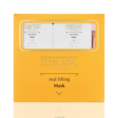 STEBLANC Маска-лифтинг для лица Эликсир молодости / Real lifting mask pack set 8*7млМаски<br>Мгновенное преображение! Программа омолаживающих процедур обеспечивает моментальный лифтинг после первого применения, восстанавливает тургор, выравнивает структуру кожи, снимает отёчность, создаёт красивый овал лица. Снимает раздражение и следы стресса, создаёт идеально гладкую поверхность. Способ применения: 1-2 раза в неделю на очищенную кожу равномерно нанесите маску на лицо, шею, декольте с помощью прилагаемой кисточки. Через 10-15 минут, после полного высыхания средства, смойте водой, затем нанесите основные средства по уходу за кожей. Активные ингредиенты: 7 видов аминокислот и хитозан - главные составляющие белка, формируют защитный протеиновый слой, обеспечивают очищение кожи и улучшает дренаж, способствуют очищению кожи от токсинов и тяжелых металлов. Коллаген - позволяет предотвратить процесс расширения пор за счет подтягивания ослабленной кожи, разглаживает поверхность кожи. 3 вида пептидов (ацетил гексапептид-1, трипептид меди-1, пальмитоил пентапептид-4) - способствуют улучшению упругости кожи, эффективно подтягивают и повышают эластичность ослабленной кожи. Гидролизованный белок пшеницы - стимулирует обменные процессы в клетках. Гидролизоованный коллаген ( дуэт  белковых соединений) - способен оказать максимальное омолаживающее действие на кожу. Экстенсин (коллагеноподобный белок) - оказывает обновляющее действие на клетки кожи, восстанавливает оптимальный уровень увлажнения и защищает от потери влаги. Трегалоза - защищает и поддерживает жизнедеятельность клеток, выраженное отшелушивающее действие. Экстракты (сладкого миндаля, семян гуараны, семян льна)   противомикробное, заживляющее и противовоспалительное действие, защищает от неблагоприятных внешних воздействий, устраняет сухость и раздражения.<br><br>Вид средства для лица: Защитный