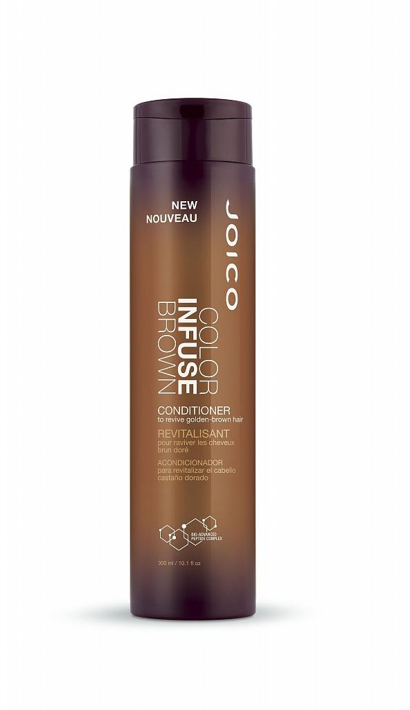 JOICO Кондиционер тонирующий для поддержания коричневых оттенков / COLOR INFUSE 300 млКондиционеры<br>Идеальный теплый коричневый Оживите ваши роскошные темные пряди с новым шампунем и кондиционером Color Infuse Brown. Формула создана специально для того, чтобы придать вашим волосам гламурное теплое сияние и насыщенный цвет. Не окрашивая высветленные пряди, шампунь и кондиционер добавляют теплый золотистый тон в волосы брюнеток (светлых и средних тонов). Идеальная пара для освежения цвета как натуральных, так и окрашенных волос. Активные ингредиенты: Anionic Dye Technology: эксклюзивная технология, позволяющая пигменту прикрепляться к стержню волоса и не вымываться в течение нескольких процедур мытья головы. Multi-Spectrum Defense Complex: зеленый чай, антиоксиданты и солнцезащитные фильтры одновременно борются со всеми факторами окружающей среды, которые вызывают потускнение и вымывание цвета. Bio-Advanced Peptide Complex : мощный запатентованный реконструирующий комплекс JOICO, который восстанавливает поврежденные волосы и препятствует их повторному повреждению до 25 процедур мытья головы. Состав: Water/Aqua/Eau, Cetearyl Alcohol, Dimethicone, Cetyl Alcohol, Cyclopentasiloxane, Behentrimonium Chloride, Cetyl Ethylhexanoate, Propylene Glycol, Ppg-5-Ceteth-20, Pentapeptide-30 Cysteinamide, Pentapeptide-29 Cysteinamide, Tetrapeptide-29 Argininamide, Tetrapeptide-28 Argininamide, Hydrolyzed Keratin, Cocodimonium Hydroxypropyl Hydrolyzed Keratin, Panthenol, Camellia Sinensis Leaf Extract, Ethylhexyl Salicylate, Ethylhexyl Methoxycinnamate, Steartrimonium Chloride, Guar Hydroxypropyltrimonium Chloride, Benzophenone-4, Citric Acid, Sodium Citrate, Peg-90m, Poloxamer 184, Isopropyl Alcohol, Tetrasodium Edta, Disodium Edta, Polyamide-2, Butylene Glycol, Ppg-12-Buteth-16, Methylpara- Ben, Iodopropynyl Butylcarbamate, Dmdm Hydantoin, Limonene, Linalool, Fragrance/Parfum, Basic Brown 17 (Ci 12251), Mica (Ci 77019), Iron Oxides (Ci 77491, Ci 77499), Titanium Dioxide (Ci 77891)