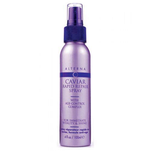ALTERNA Спрей-блеск мгновенного действия / Alterna Caviar Anti-aging Rapid Repair Spray 118 млСпреи<br>Спрей-блеск придает волосам прочность, эластичность и сияние в течение всего дня. Средство содержит экстракт черной икры   источник жирных кислот, которые так важны для здоровья и красоты волосяного стержня. Также в состав продукта входят витамины Е, А и Д3. Заключительной ноткой являются натуральные масла, которые заботятся о волосах и коже головы, стимулируют кровообращение и снимают раздражения. Активные ингредиенты: экстракт черной икры, витамины Е, А, Д3, натуральные масла. Способ применения: распылите спрей на чистые волосы. Подходит для всех типов волос.<br><br>Тип: Спрей-блеск