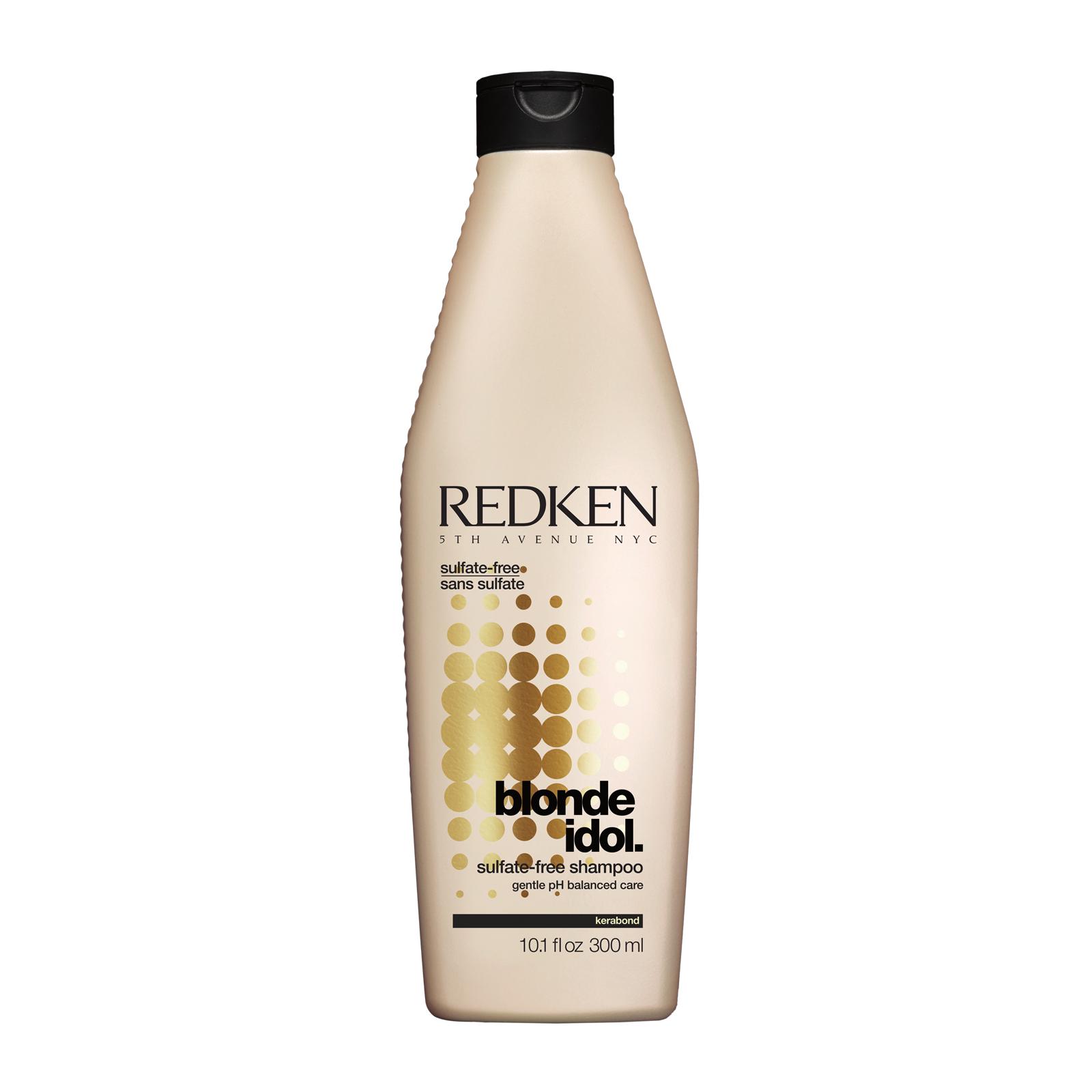 REDKEN Шампунь бессульфатный, восстанавливающий баланс pH для волос блонд / BLONDE IDOL 300млШампуни<br>Шампунь бережно очищает кожу головы и светлые волосы, подчеркивая их естественный оттенок и наполняя их сиянием. Благодаря протеиновому комплексу, который входит в состав средства, шампунь от Redken укрепляет волосы и делает их мягкими и шелковистыми. После применения шампуня от Редкен волосы становятся эластичными и блестящими, а светлый оттенок приобретает особую контрастность. Активные ингредиенты: Экстракт грейпфрута, протеиновый комплекс, слюда. Способ применения: Нанесите небольшое количество средства на влажные волосы, вспеньте и смойте большим количеством воды.<br><br>Вид средства для волос: Восстанавливающий