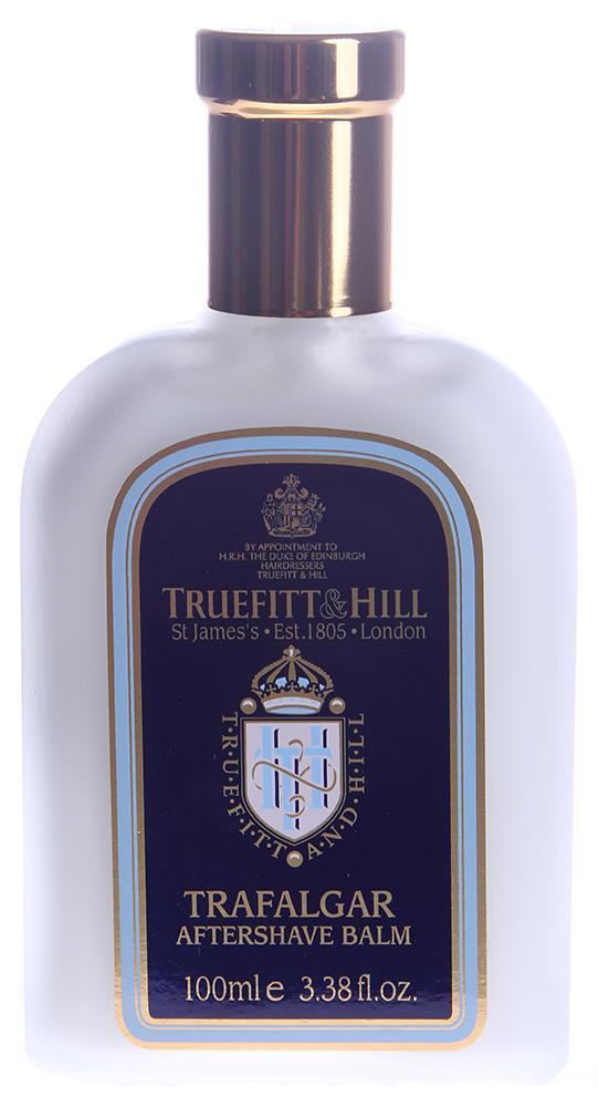 TRUEFITT HILL Бальзам после бритья Trafalgar 100млПосле бритья<br>Насыщенный, нежирный ароматизированный мужской бальзам после бритья. Содержит ланолин и экстракт алоэ вера, которые увлажняют и восстанавливают кожу. С пряно-древесным ароматом. Кожа выглядит нежной, гладкой и ухоженной. Подходит для всех типов кожи, даже для чувствительной. Активные ингредиенты: Ланолин, экстракт алоэ вера. Способ применения: Нанести бальзам на кожу, мягко втереть, дать впитаться.<br><br>Объем: 100<br>Пол: Мужской