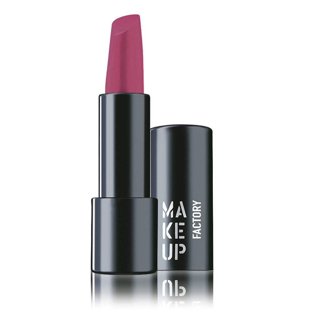 MAKE UP FACTORY Помада полуматовая устойчивая для губ, 166 ярко-розовый / Magnetic Lips semi-mat & long-lasting 4 г помады make up factory кремовая помада для губ lip color 237 оттенок розовый коралл