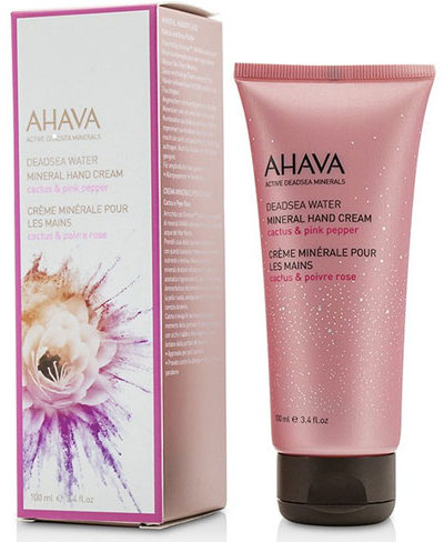 AHAVA Крем минеральный для рук, кактус и розовый перец / Deadsea Water 100 мл -  Кремы