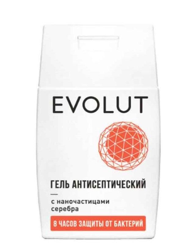 Купить EVOLUT Гель антисептический для рук с наночастицами серебра, плоский флакон 50 мл