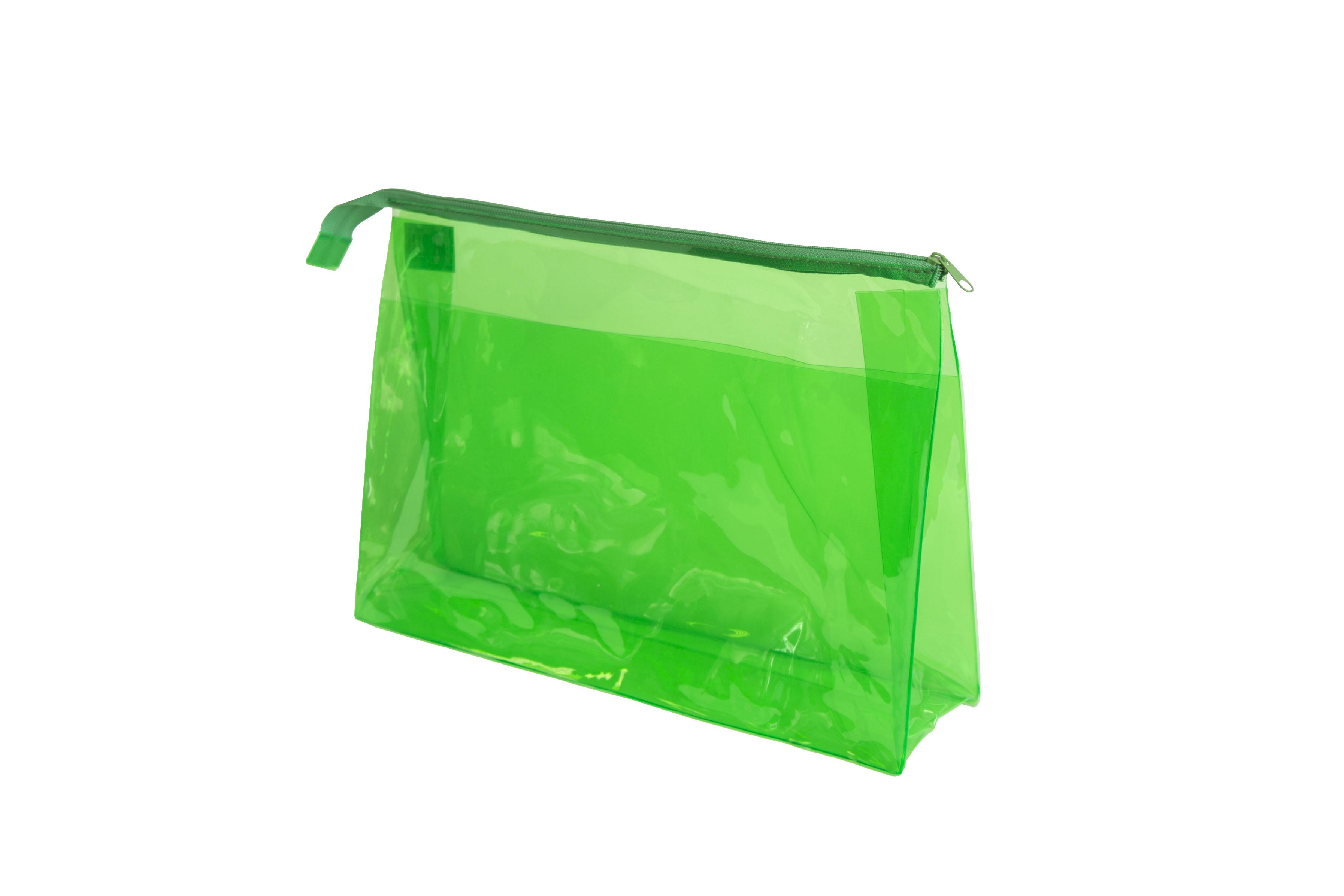 SIBEL Косметичка прозрачная зеленая / Sibel, 34х22 см
