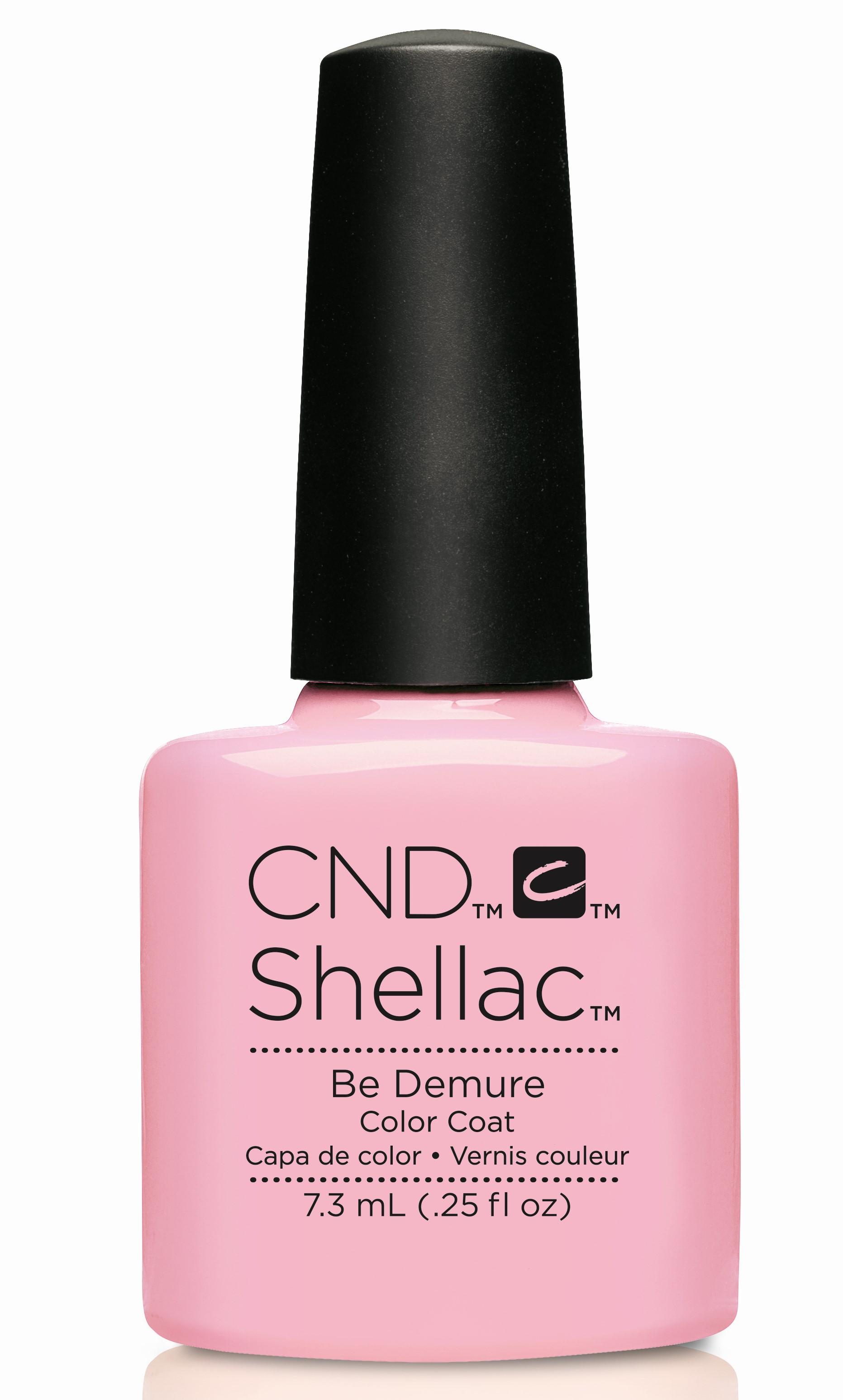 CND 91173 покрытие гелевое Be Demure / SHELLAC Flirtations 7,3мл cnd 083 покрытие гелевое bare chemise shellac 7 3мл