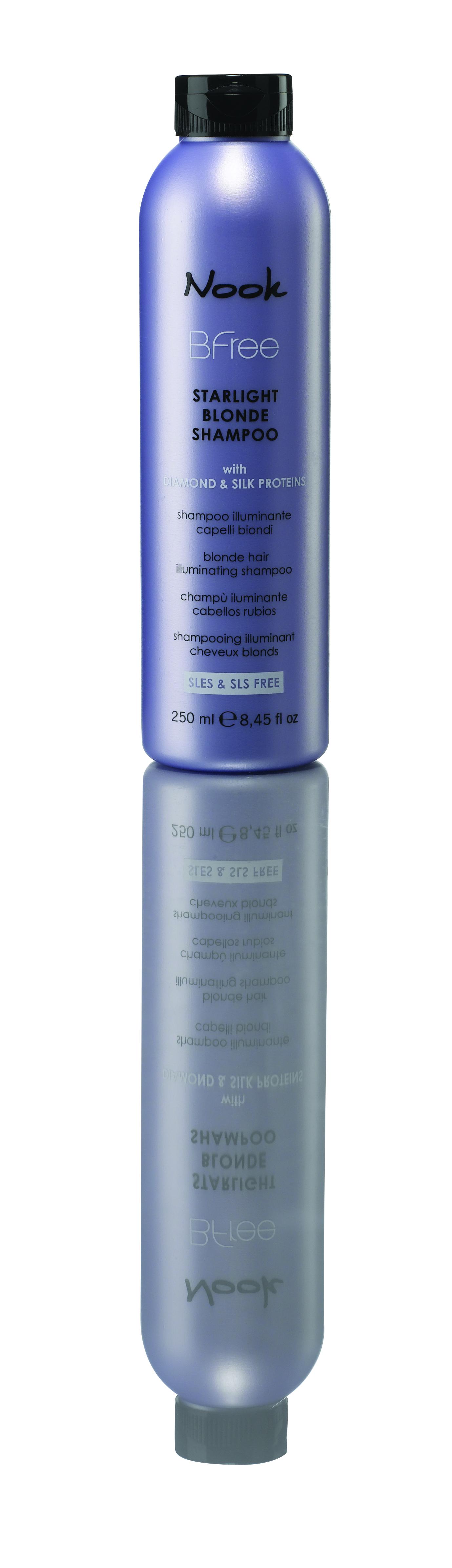 NOOK Шампунь сияющий для волос цвета блонд / Starlight Blonde Shampoo BFREE 250мл шампунь nook starlight blonde shampoo