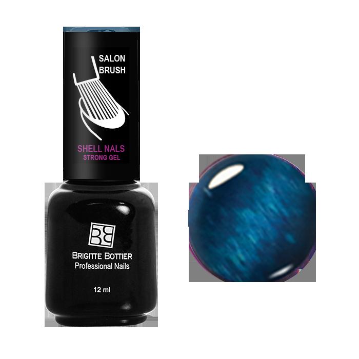 BRIGITTE BOTTIER 954 гель-лак магнитный для ногтей, голубой кошачий глаз / Shell Nails 12 мл