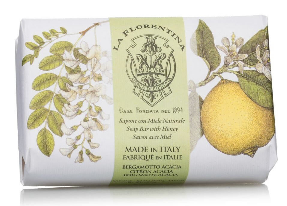 Купить LA FLORENTINA Мыло натуральное, акация и цитрон / Acacia & Citron 200 г