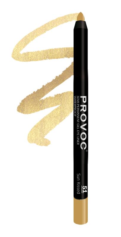 PROVOC Подводка гелевая в карандаше для глаз, 51 золотой с шиммером / (L) Gel Eye Liner Sun Kissed 7 г