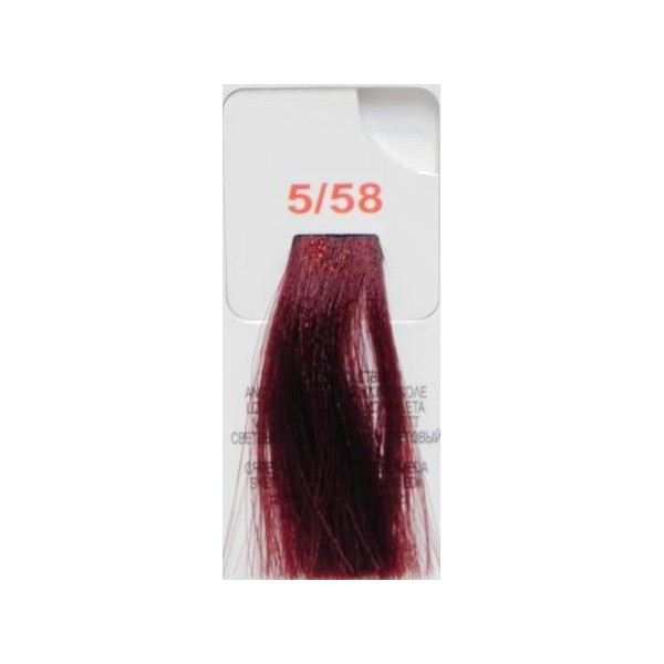 LISAP MILANO 5/58 краска для волос / LK ANTIAGE 100млКраски и корректоры<br>5/58 светлый шатен красно-фиолетовый Кератиновая структура волос постепенно ослабевает, поэтому для многих красок сцепление пигмента краски между чашуйками волоса осложнено, краска ложится хаотично. Краска LK ANTI-AGE разработана на базе эксклюзивной системы Phyto-Enhancer, предназначенной для решения любой проблемы окраски волос, возникающей с возрастом. Phyto-Enhancer - это активные вещества, обеспечивающие максимальное проникновение красящего пигмента даже в самые невосприимчивые волосы, гарантирует прекрасное сцепление красящего пигмента между чешуйками волоса, более интенсивное увлажнение и блеск. LK ANTI-AGE обеспечивает эффект омолаживания волос, прекрасное проникновение красящего пигмента в волосы, максимально возможное закрепление краски в волосах и долговременный результат. Способ применения: разводиться с DEVELOPER 10Vol, 20Vol, 30Vol, 40Vol в пропорции 1:1. Время выдержки - 35 минут.<br><br>Цвет: Красный и фиолетовый<br>Вид средства для волос: Кератиновая