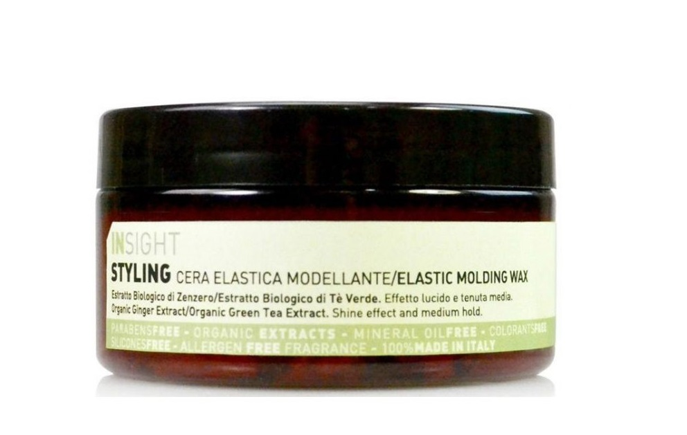 INSIGHT Воск моделирующий с экстрактом имбиря для волос / STYLING ELASTIC MOLDING WAX 90 мл - Воски