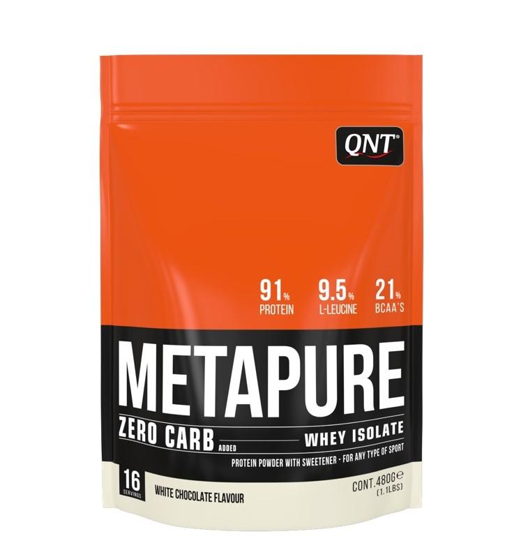 Купить QNT Добавка биологически активная к пище Метапьюр зеро карб, белый шоколад / ZERO CARB METAPURE White Chocolate 480 г