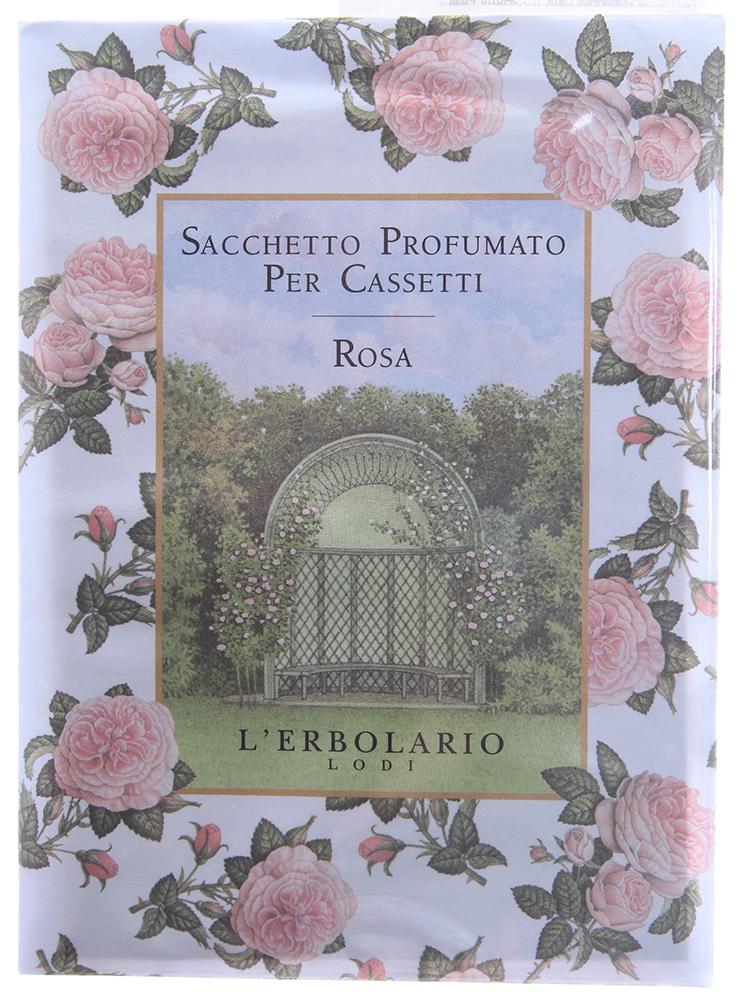 LERBOLARIO Саше для комода РозаАроматы для интерьера<br>Использование ароматизированных саше имеет давнюю традицию, и сегодня, как много лет назад они привнесут в Ваш дом частицу утонченного вкуса.<br>