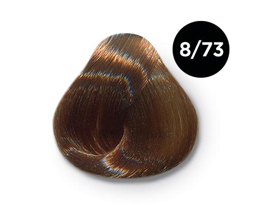 OLLIN PROFESSIONAL 8/73 краска для волос, светло-русый коричнево-золотистый / OLLIN COLOR 60 мл