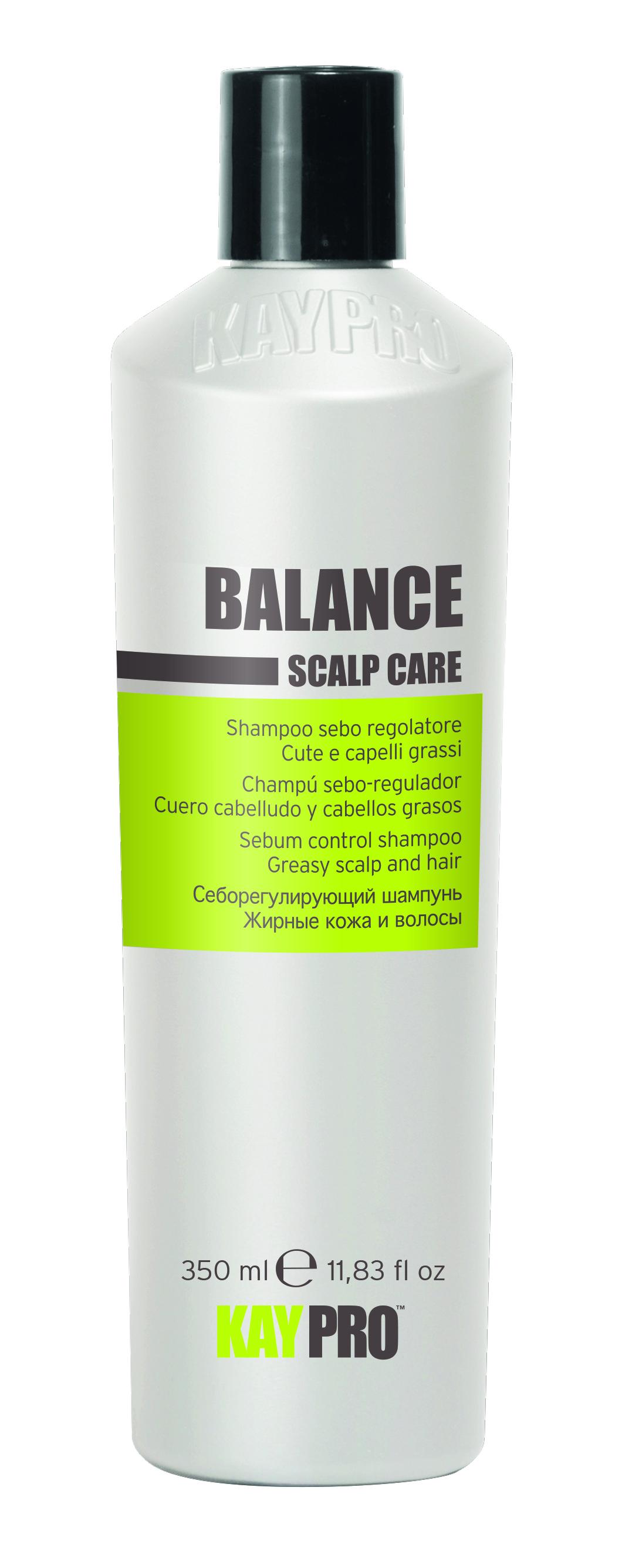 KAYPRO Шампунь себорегулирующий для жирных волос / KAYPRO 350млШампуни<br>СЕБОРЕГУЛИРУЮЩИЙ ШАМПУНЬ ДЛЯ ЖИРНЫХ ВОЛОС. Эффективно очищает, регулируя секрецию сальных желез кожи головы, восстанавливает ее баланс. Оказывает успокаивающее действие. Активные ингредиенты: содержит экстракт березы и лимнантеса белого. Способ применения: нанести на мокрые волосы, помассировать и смыть.<br><br>Объем: 350 мл<br>Тип кожи головы: Жирная<br>Типы волос: Жирные<br>Назначение: Перхоть