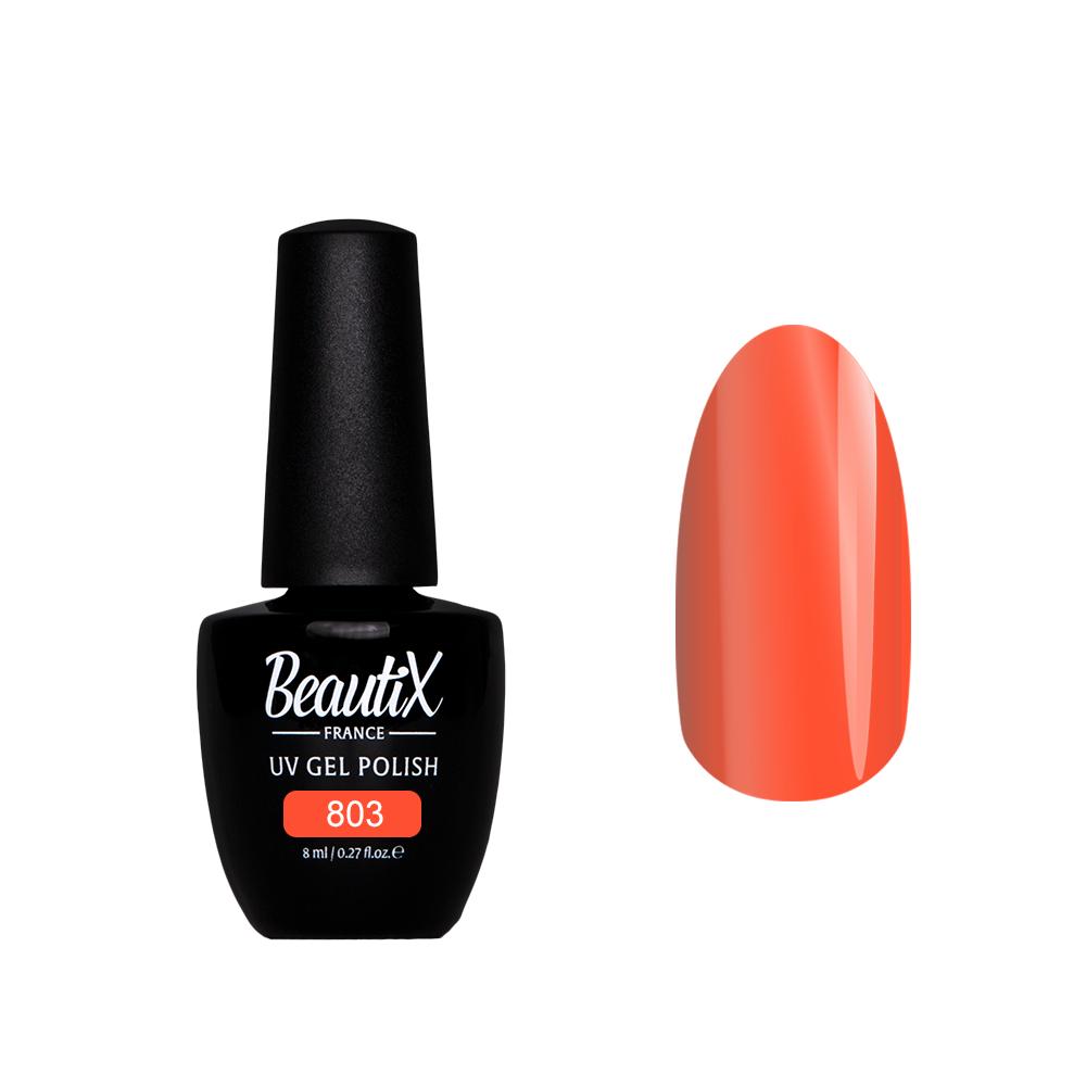Купить BEAUTIX 803 гель лак для ногтей 8 мл, Оранжевые