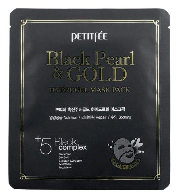 Купить PETITFEE Маска гидрогелевая с черным жемчугом и золотом для лица / Hydrogel Mask Pack 32 г