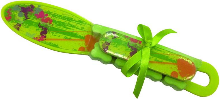 Купить DEWAL BEAUTY Набор педикюрный, салатовый (терка, пилка, разделитель для пальцев)