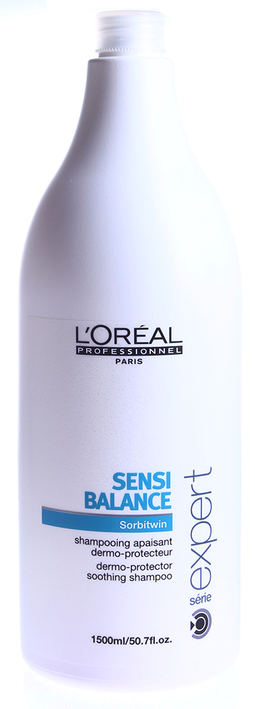 LOREAL PROFESSIONNEL Шампунь для защиты кожи головы / СЕНСИ БАЛАНС 1500млШампуни<br>В тщательном и бережном уходе нуждаются не только наши волосы, но и кожа головы. Специально для этого компания L&amp;rsquo;Oreal Proffesionnel создала шампунь Сенси Баланс, который создан по запатентованной формуле Sorbitwin. Она соединяет производную от сорбитола, увлажняющие компоненты и витамины РР, которые эффективно увлажняют, успокаивают, питают и защищают кожу головы. Активные защищающие компоненты помогают восстановить защитные функции кожи головы. Шампунь создает на волосах особую защитную пленку, которая препятствует проникновению вредных факторов окружающей среды. При этом шампунь эффективно борется с перхотью и надолго избавляет волосы от появления жирного блеска. Шампунь устраняет раздражение и дискомфорт кожи головы, восстанавливает ее защитные функции и делает волосы красивыми, мягкими и здоровыми! Активный состав: Сорбитол, увлажнители, витамины, питательные микроэлементы. Применение: Нанесите небольшое количество шампуня на волосы, вспеньте, массирующими движениями нанесите на кожу головы и волосы по всей длине, а затем смойте большим количеством воды.<br><br>Объем: 1500<br>Типы волос: Для всех типов<br>Назначение: Перхоть