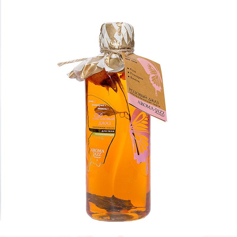 """AROMA JAZZ Масло массажное жидкое для тела """"Розовый джаз"""" 350мл недорого"""