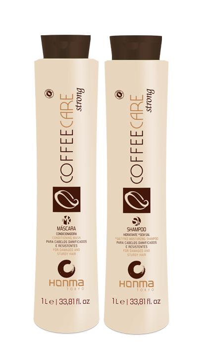 HONMA TOKYO Набор бессолевой для сильно поврежденных волос (шампунь 1000 мл, маска 1000 мл) Coffee Care Strong