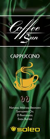 SOLEO Бронзатор интенсивный натуральный с запахом кофе с молоком / Coffe Sun Cappuccino 15 мл emerald bay кофейный бронзатор мокко со сливками choco latta love 15 мл