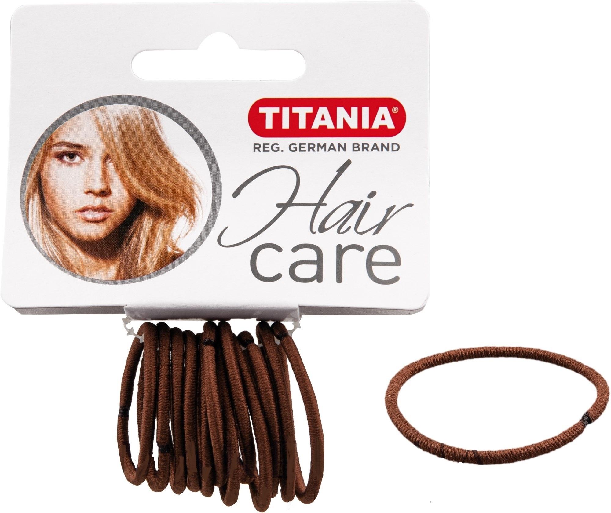 TITANIA Резинки для волос, коричневые 3 см 12 шт/уп 7801